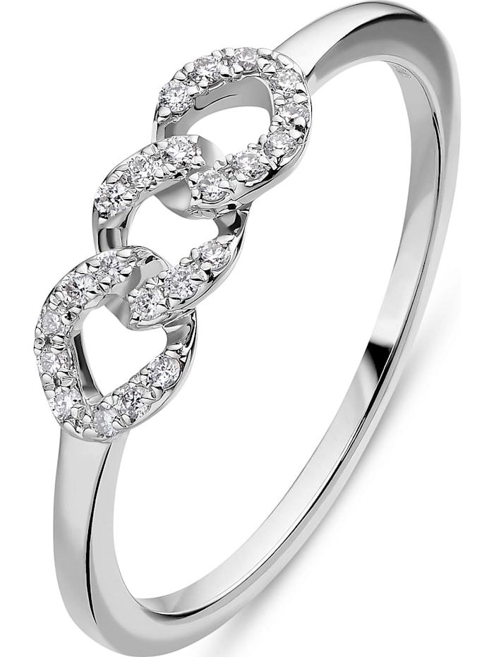 CHRIST C-Collection CHRIST Damen-Damenring 585er Weißgold 22 Diamant, weißgold