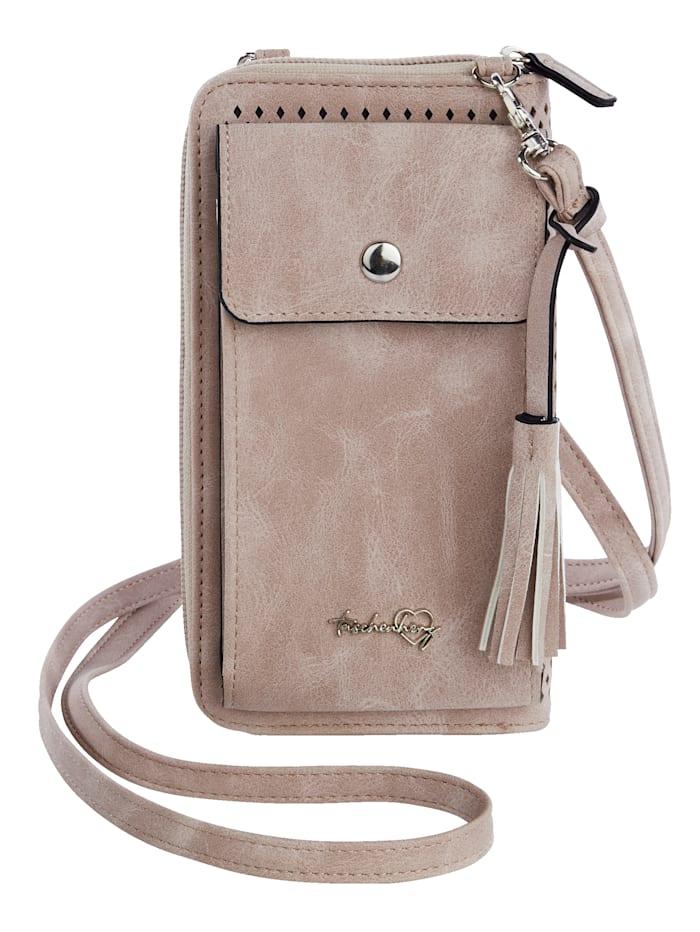 Taschenherz Pochette pour smartphone avec porte-monnaie, Vieux rose