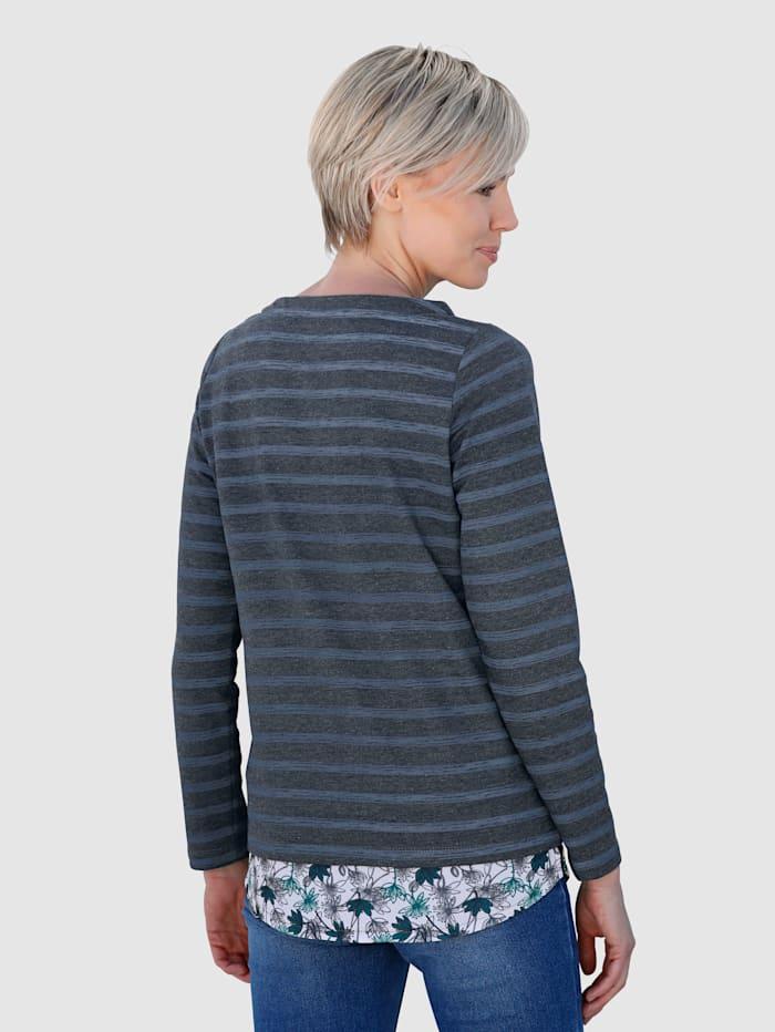 Sweatshirt mit Webeinsatz