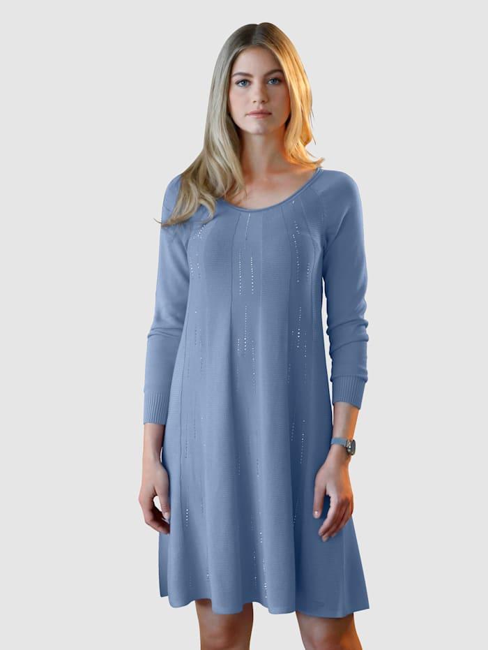 AMY VERMONT Stickad klänning med strass, Ljusblå
