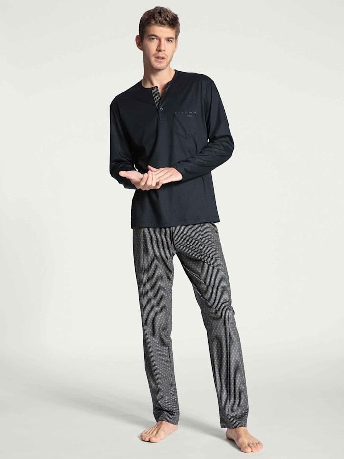 Calida Pyjama lang Ökotex zertifiziert, dark sapphire