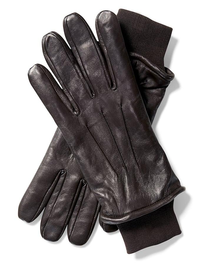 BABISTA Kožené rukavice z měkké jehněčí nappa kůže, Hnědá