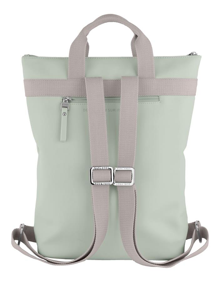 Rucksack mit kleiner aufgesetzter Tasche