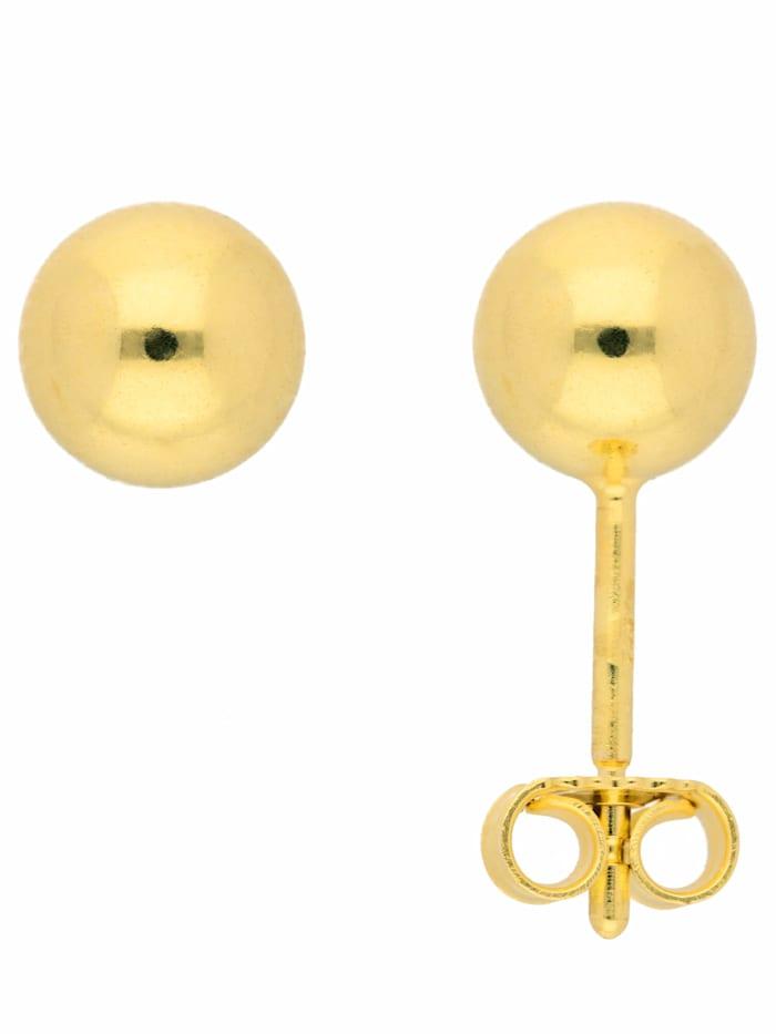 1001 Diamonds 1001 Diamonds Damen Goldschmuck 585 Gold Ohrringe / Ohrstecker Ø 6 mm, gold