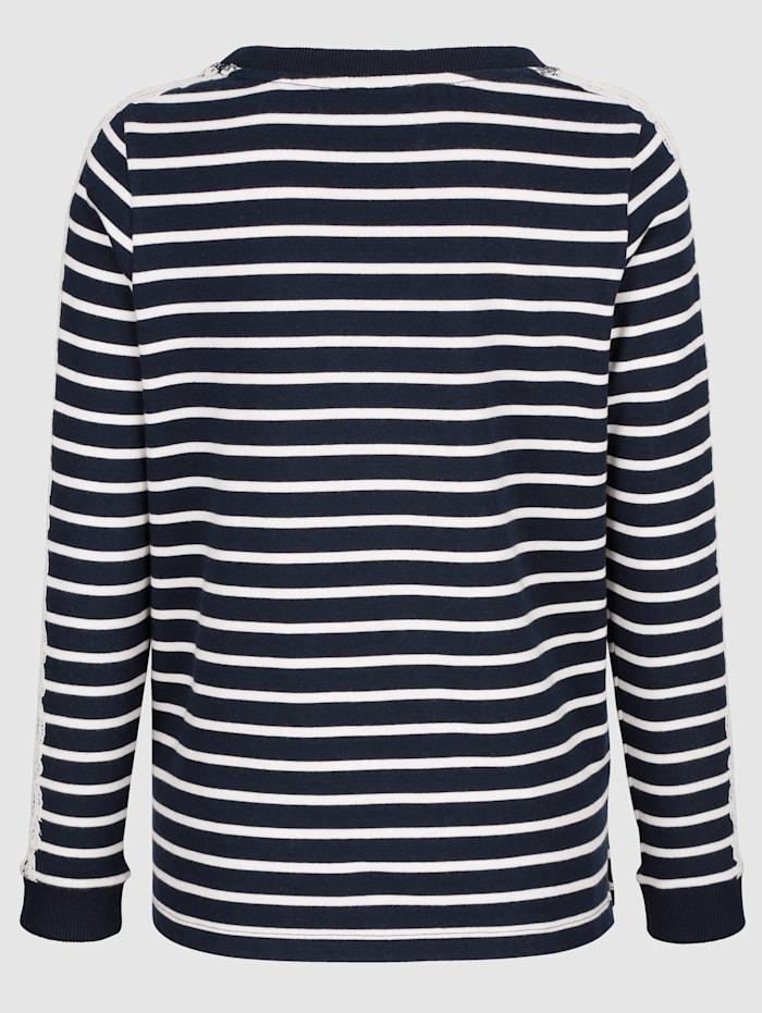 Sweatshirt med detaljer i spets
