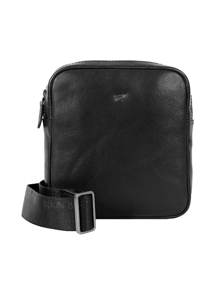 Braun Büffel Umhängetasche PARMA in elegantem Design, schwarz