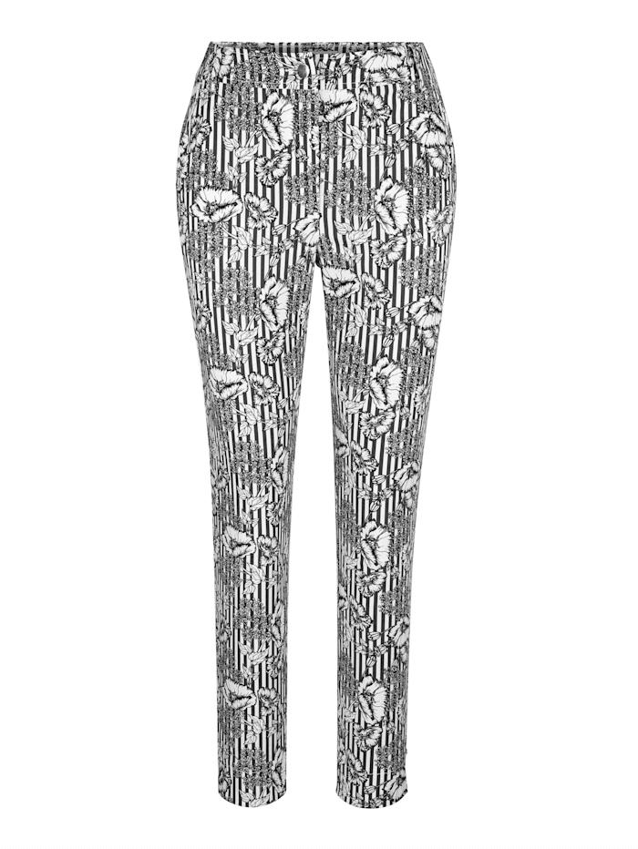 Pantalon 7/8 à imprimé placé