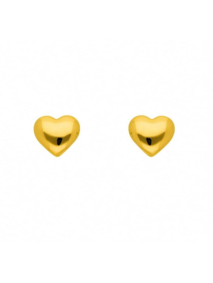 1001 Diamonds Damen Goldschmuck 585 Gold Ohrringe / Ohrstecker, gold
