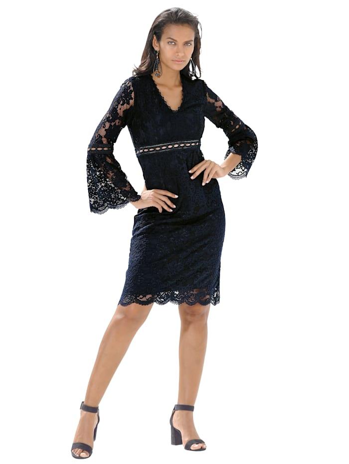 APART Kleid aus hochwertiger Spitze, Dunkelblau