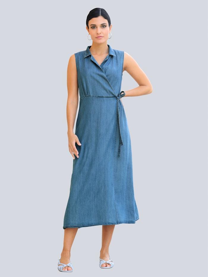 Alba Moda Klänning i omlott-look, Blue bleached