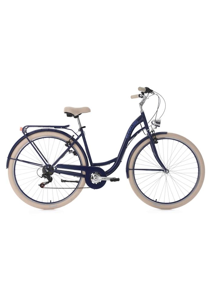 KS Cycling Damenfahrrad Cityrad 6-Gänge Balloon 28 Zoll, blau