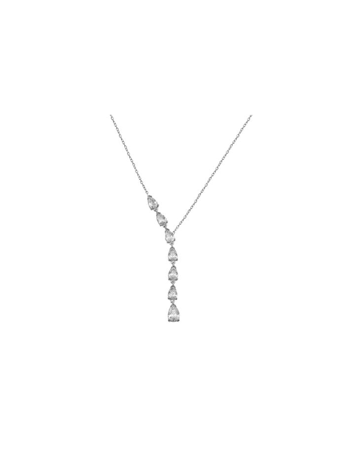 Dkeniz Silberkette TROPFFEN Y-KETTE ROSE, silber