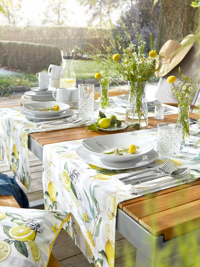 Apelt Tafellinnen Sunna, geel/multicolor