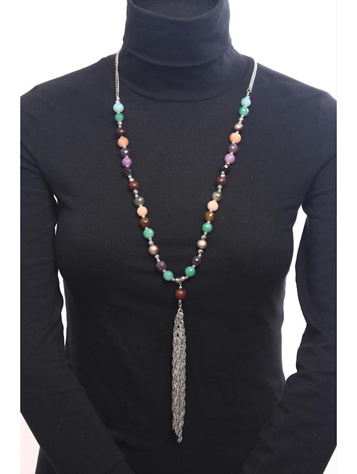 Lange Kette Hannah Kette mit Perlen aus echtem Achat