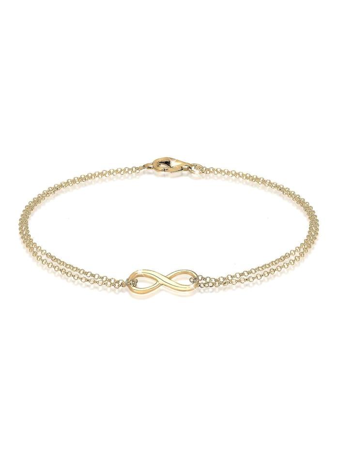 Elli Armband Infinity Symbol Love Unendlich 925 Sterling Silber, Gold