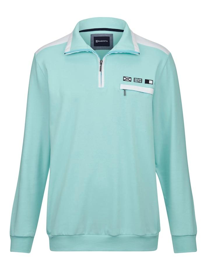 BABISTA Sweatshirt in sommerlichen Farben, Mintgrün