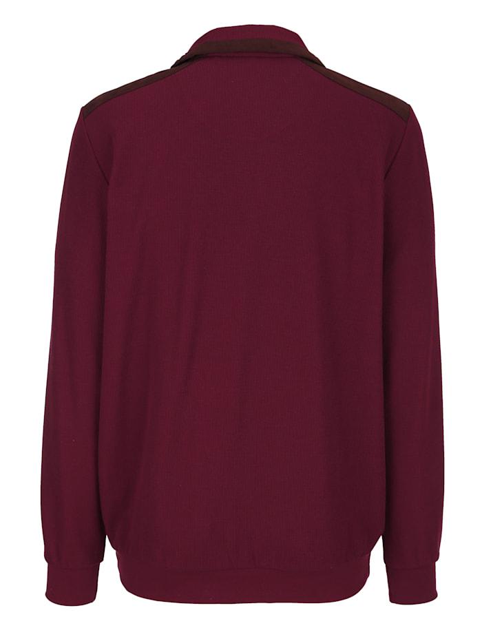 Sweatshirt mit Besatz in Velours-Optik