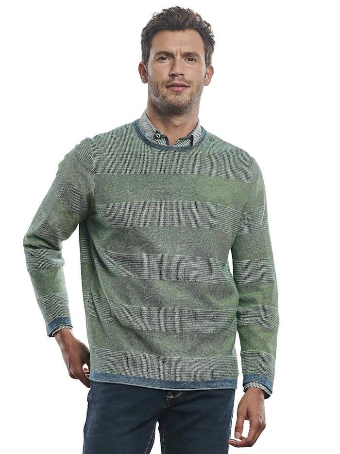Engbers Pullover Rundhals, Grasgrün