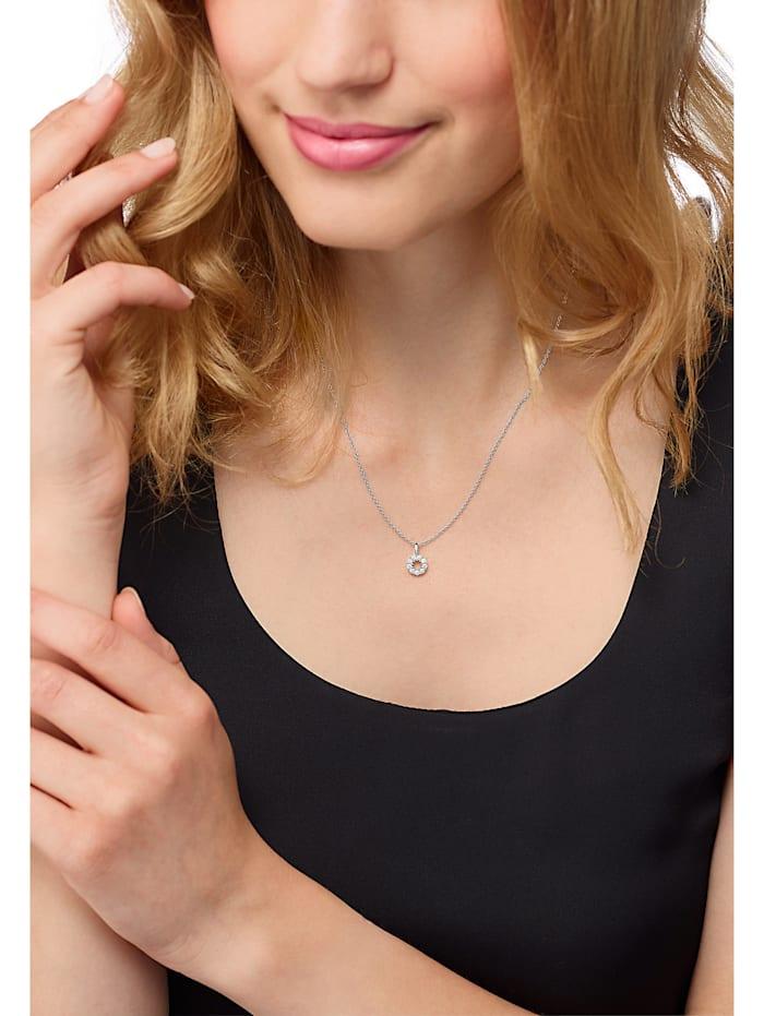 CHRIST Damen-Kette 585er Weißgold 9 Diamant