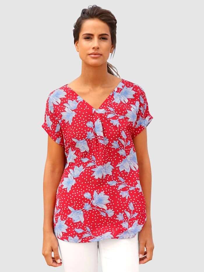basically you Shirt mit Blumendruck, Rot