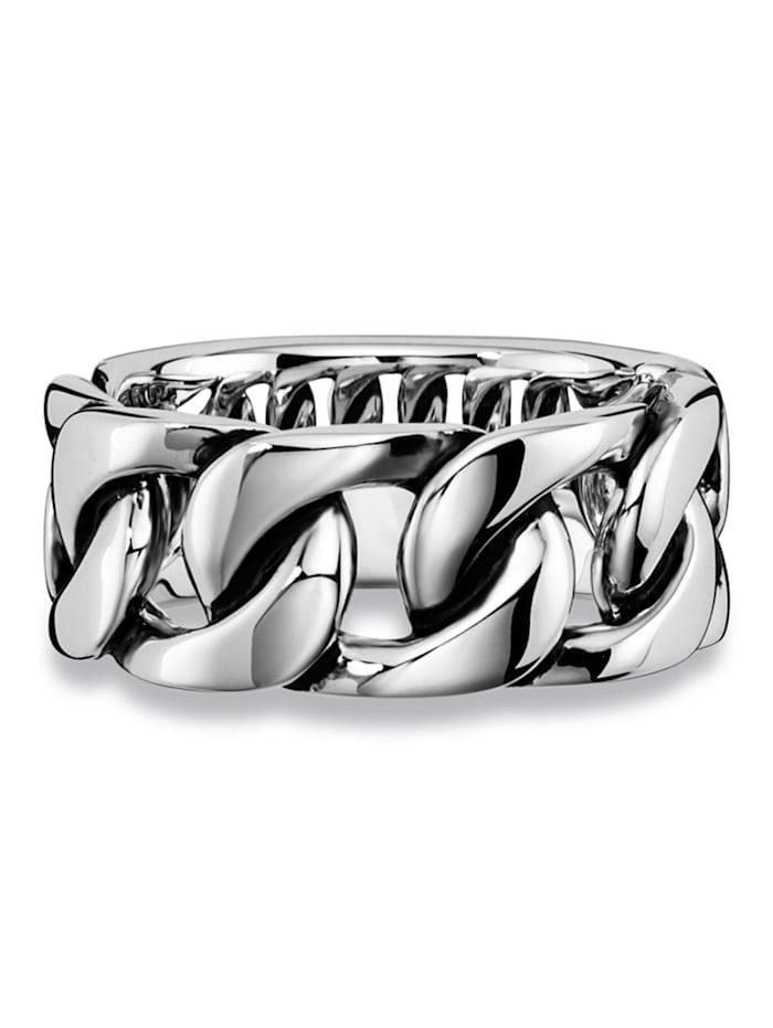 CAI Ring 925/- Sterling Silber ohne Stein Glänzend 925/- Sterling Silber, weiß
