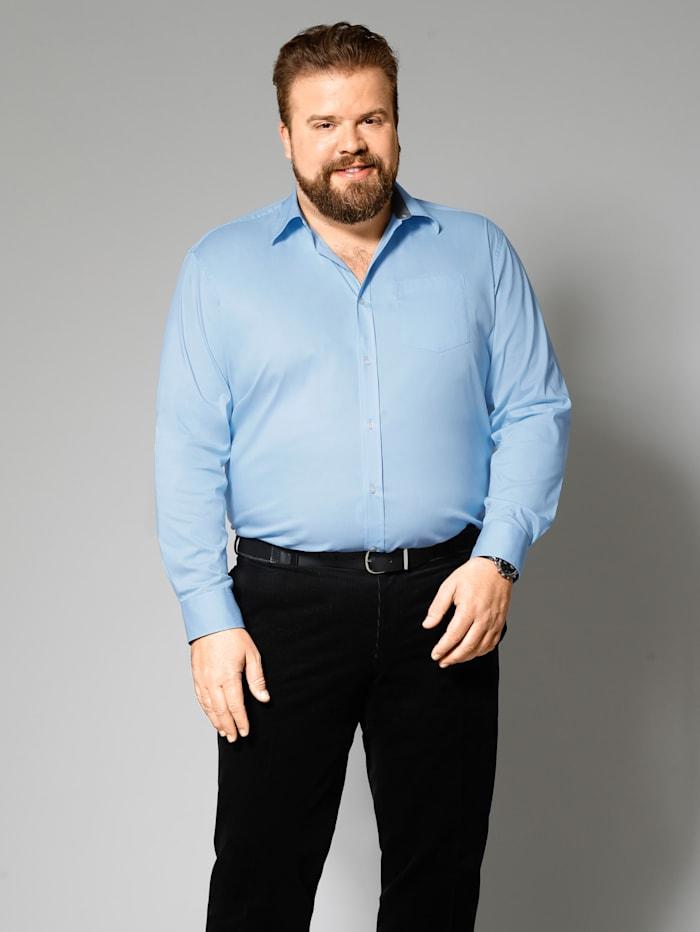 Men Plus Spezialschnitt Hemd, Hellblau