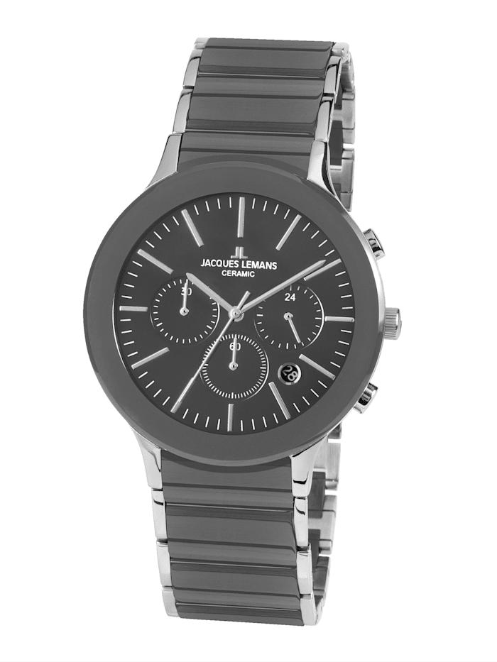 Jacques Lemans Herren- Uhr-Chronograph Serie: Dublin, Kollektion: Sport: 1- 1854D, Grau