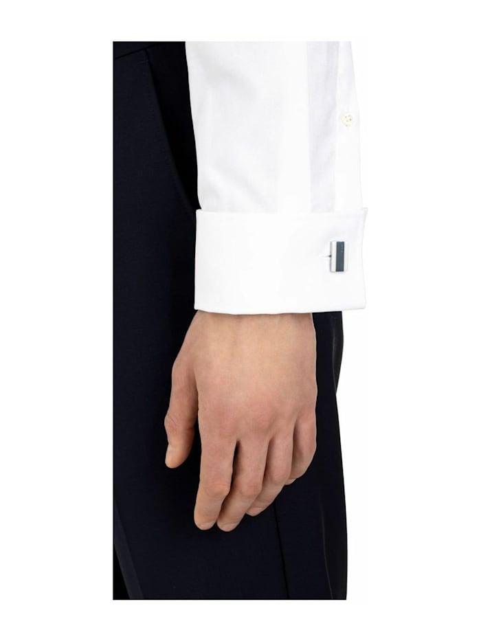 Manschettenknopf für Herren, Edelstahl mit IP Blau