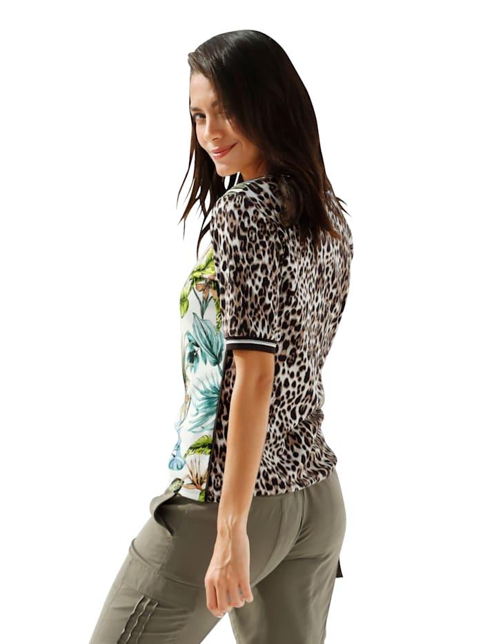 Shirt mit Animal- und Floraldruck
