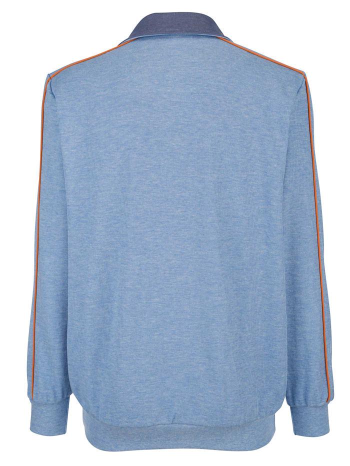 Sweatshirt met paspels in contrastkleur