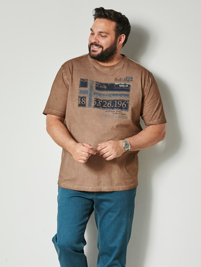 Puuvillainen T-paita painatuksella