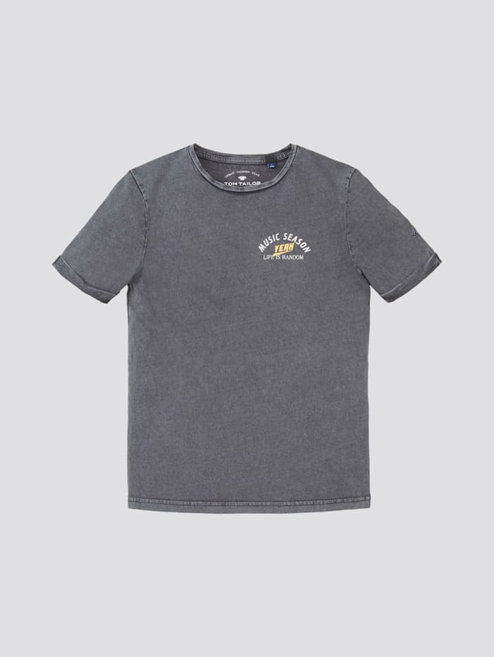 Tom Tailor T-Shirt mit Print, odyssey gray|gray