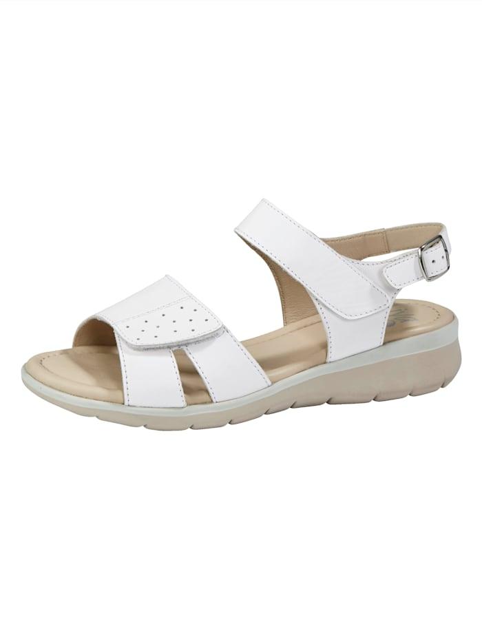 Naturläufer Sandaaltje met verstelbaar klittenband, Wit