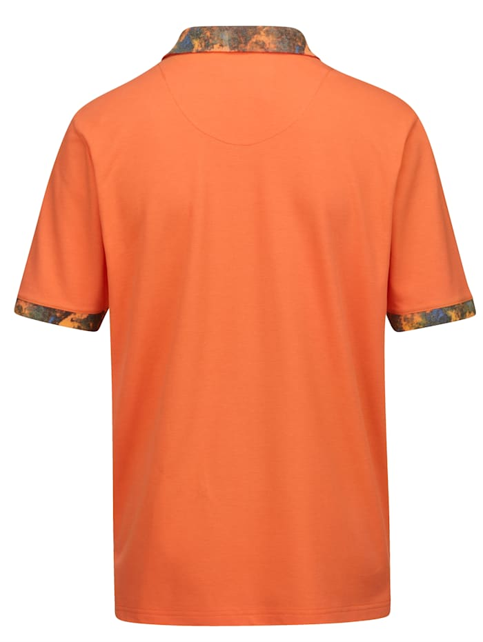 Poloshirt mit Kontrastdruck