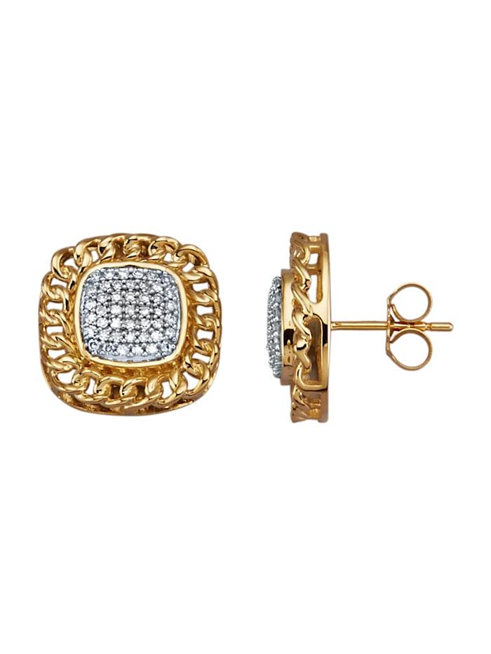 Amara Diamants Boucles d'oreilles avec diamants, Blanc
