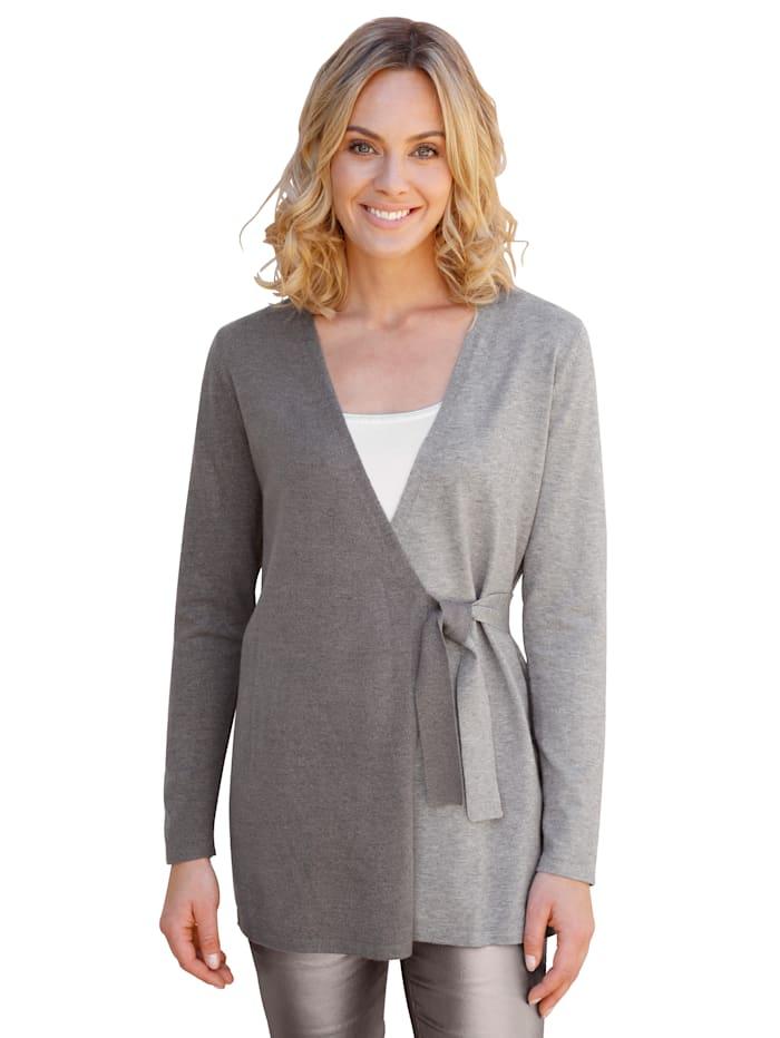 AMY VERMONT Vest in bicolor look, Lichtgrijs/Donkergrijs