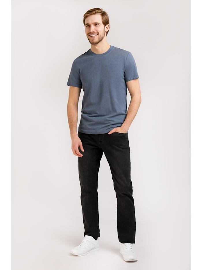 Basic-Shirt in melierter Optik