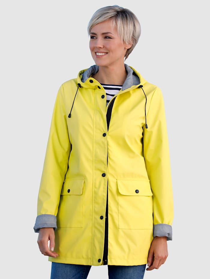 Dress In Regenjacke mit Kapuze, Gelb