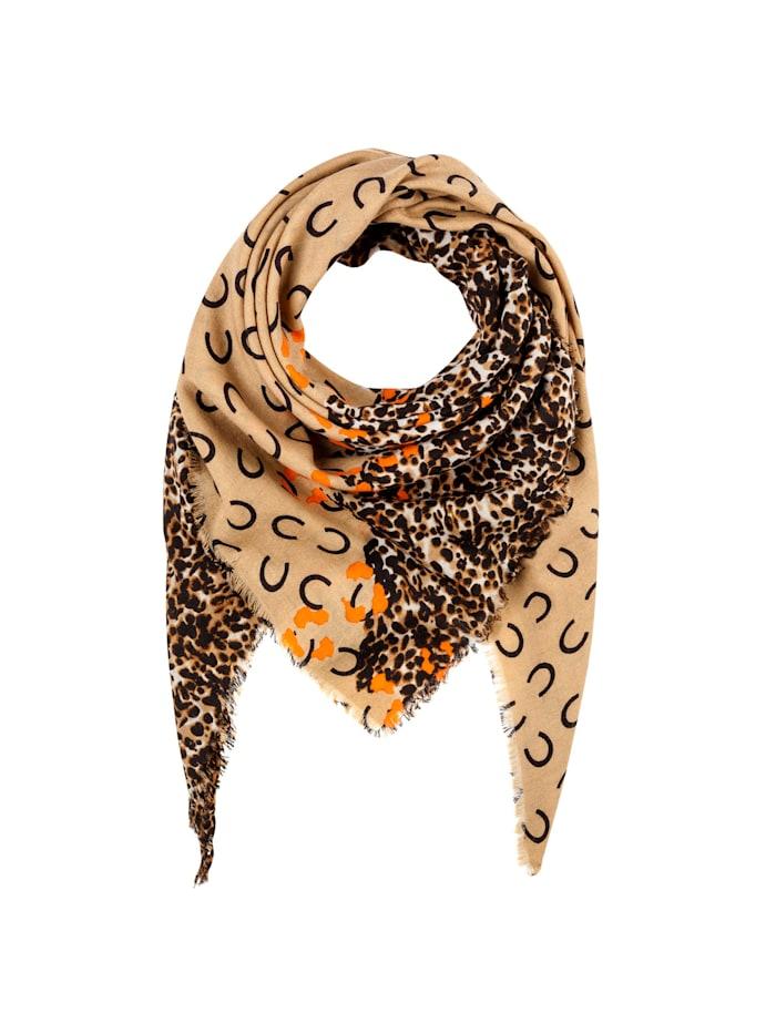 Codello Premium Signature-Tuch aus feinster Wolle, camel