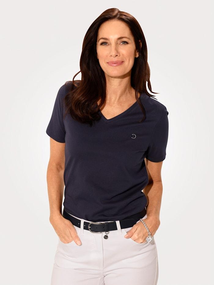 MONA Shirt aus Cotton made in Africa, Marineblau