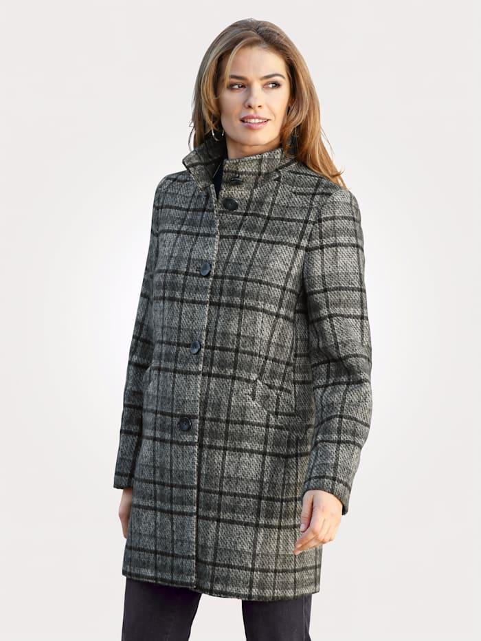 MONA Veste laine coupe classique, Anthracite