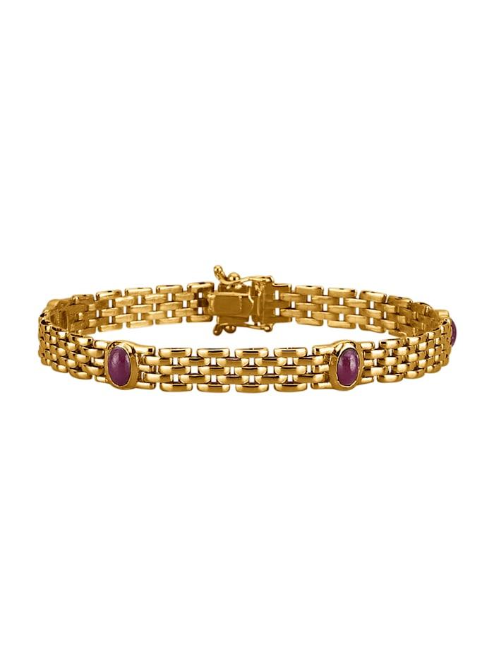 Amara Pierres colorées Bracelet avec rubis, Rouge