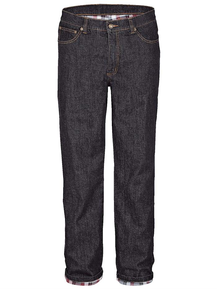 BABISTA Termo džínsy s hrejivou termo podšívkou, Čierna