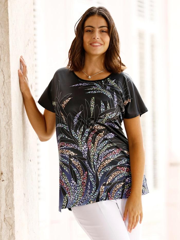 m. collection Shirt met bladerenprint voor, Multicolor