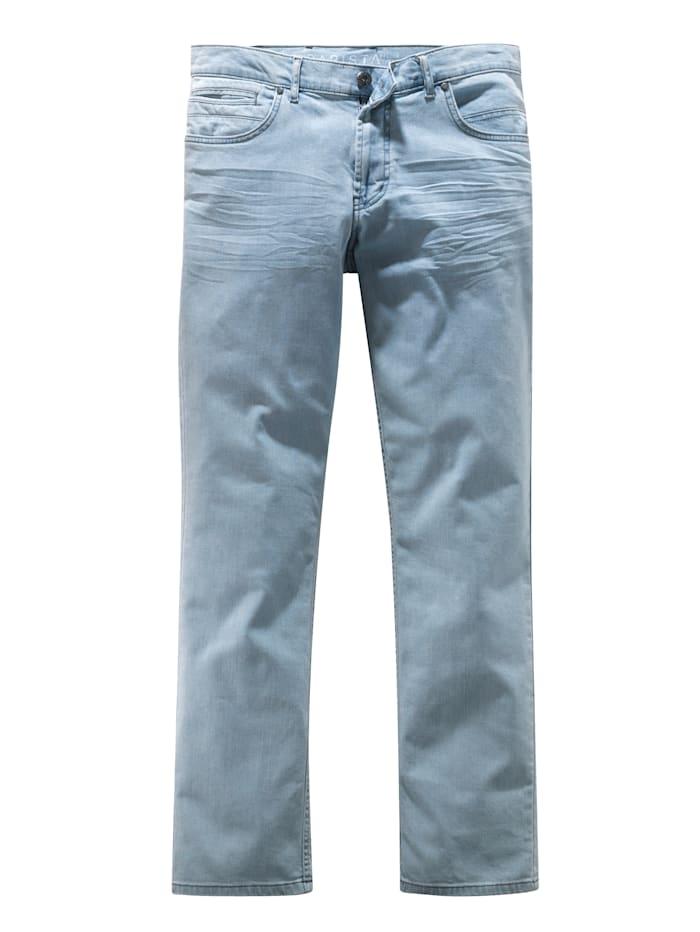 BABISTA Jeans mit modischem Crinkle-Effekt, Hellblau