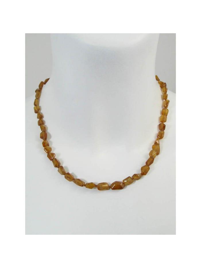 1001 Diamonds Hessonit Halskette, braun
