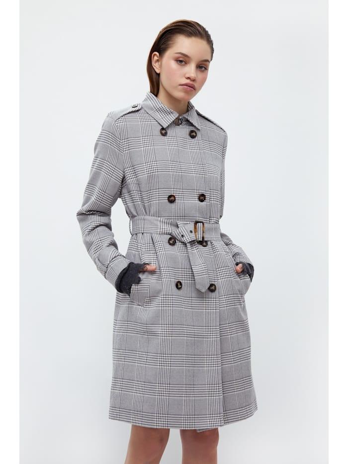 Finn Flare Trenchcoat für Damen im klassischen Stil, grey