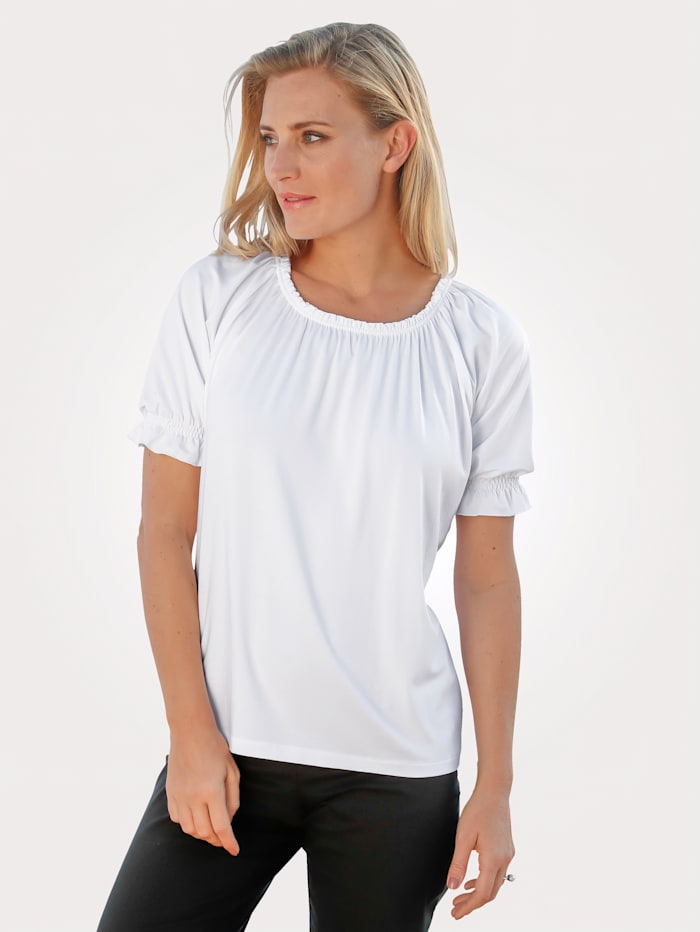 MONA Top with gathers, White