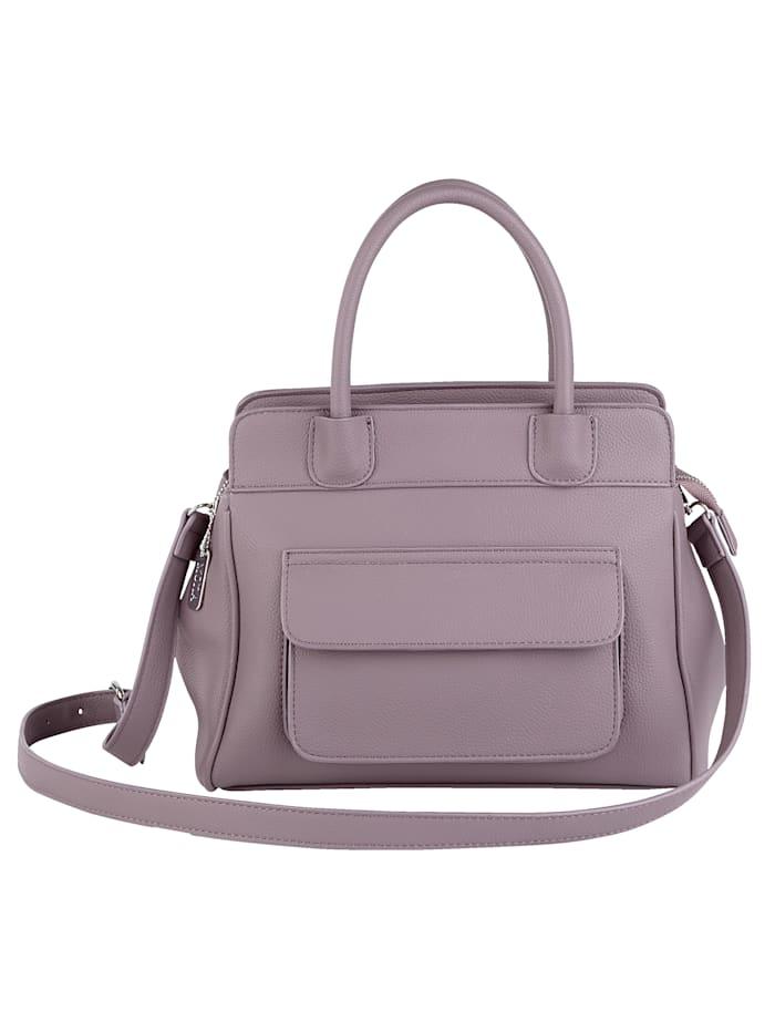 Handbag with an outer pocket