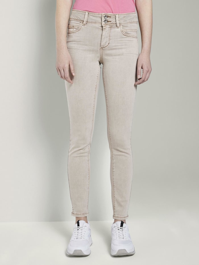 Tom Tailor Alexa Skinny Contour Jeans in Ankle-Länge, Dusty Taupe